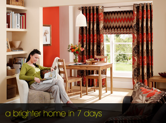 Quality curtains and blinds to your door within a week
