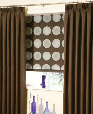 Example of Pencil pleat curtains